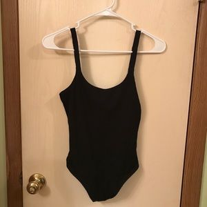Victoria Secret Sport Black Bodysuit Size Small